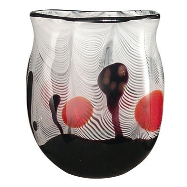 Dale Tiffany Feathers Broad Vase