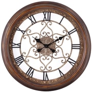 Cooper Classics Oversized 24.5'' Audrey Round Wall Clock