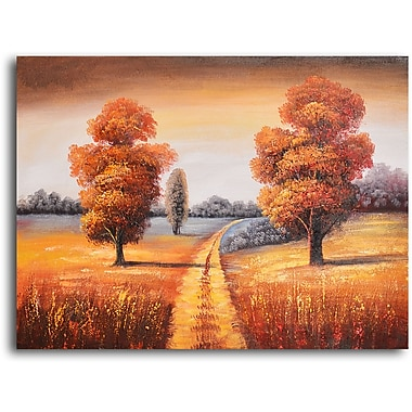 My Art Outlet ''Off-Roading in Fall'' Painting Print on Wrapped Canvas