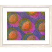 Studio Works Modern ''Fruit Punch Circle Series'' by Zhee Singer Framed Graphic Art; White