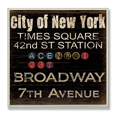 Stupell Industries New York Landmarks Textual Art Wall Plaque