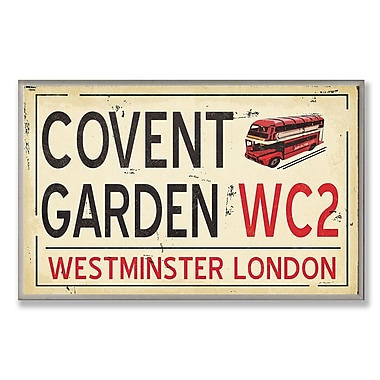 Stupell Industries Covent Gardens WC2 Railroad Textual Art Wall Plaque
