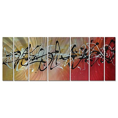 All My Walls 'Writing On The Wall' by Megan Duncanson 7 Piece Graphic Art Plaque Set