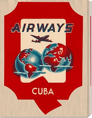 Global Gallery 'Q Airways Cuba' by Retro Travel Vintage Advertisement on Wrapped Canvas