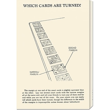 Global Gallery 'Which Cards are Turned' by Retromagic Vintage Advertisement on Wrapped Canvas
