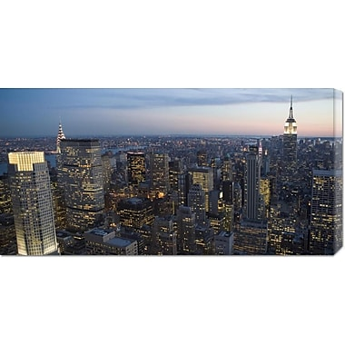 Global Gallery 'Manhattan at Dusk' Photographic Print on Wrapped Canvas