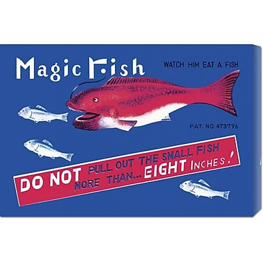 Global Gallery 'Magic Fish' by Retrobot Vintage Advertisement on Wrapped Canvas