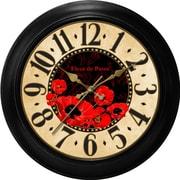 Ashton Sutton Decorative Home 18'' Poppy Dial Wall Clock