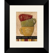 PTM Images Striped Stack A Framed Graphic Art