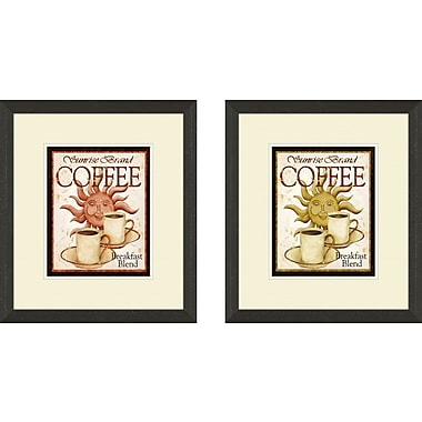 PTM Images Kitchen Sunrise Brand 2 Piece Framed Vintage Advertisement Set
