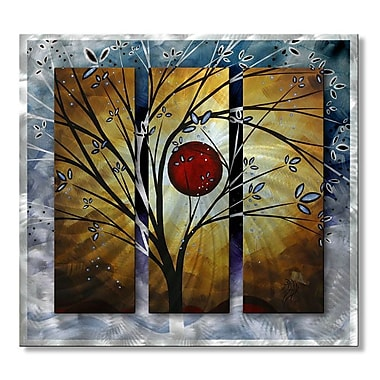All My Walls 'Blossoms' by Megan Duncanson 3 Piece Graphic Art Plaque Set