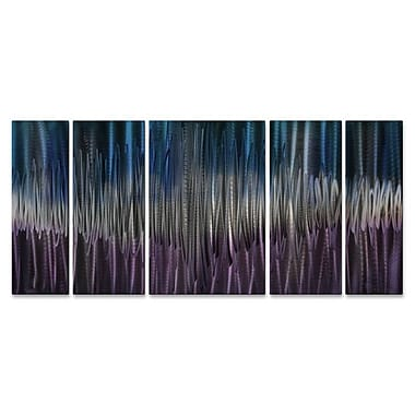 All My Walls 'Cool Energy II' by Ash Carl 5 Piece Graphic Art Plaque Set