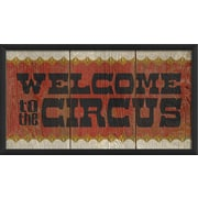 The Artwork Factory Welcome to the Circus Framed Textual Art