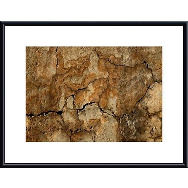 Printfinders Cracked Wall Abstract by John K. Nakata Framed Photographic Print; Black