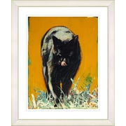Studio Works Modern ''Cleo the Cat'' by Zhee Singer Framed Painting Print; White