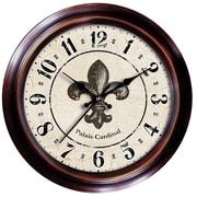Ashton Sutton Decorative Home 18'' Fleur-de-Lis Wall Clock