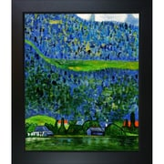 Tori Home Unterach on Lake Atter by Gustav Klimt Framed Painting Print