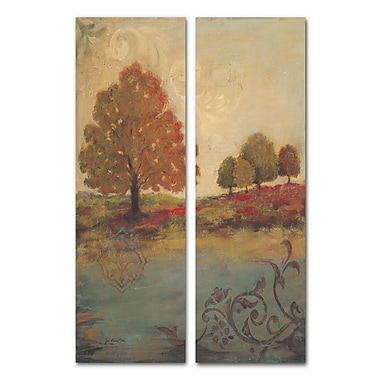 Stupell Industries Fall Foliage Diptych 2 Piece Painting Print Wall Plaque Set