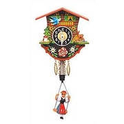 Black Forest Swinging Girl Chalet Wall Clock