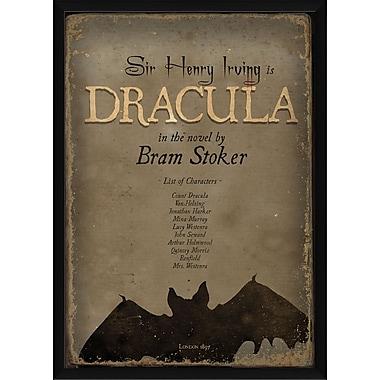 The Artwork Factory Dracula Framed Vintage Advertisement