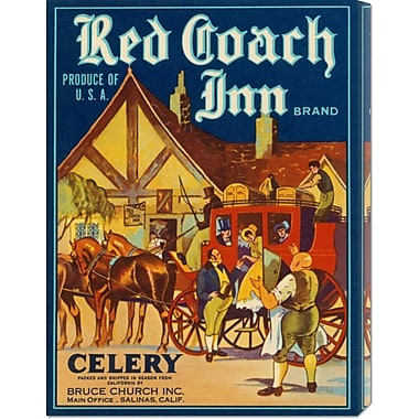Global Gallery 'Red Coach Inn Celery' by Retrolabel Vintage Advertisement on Wrapped Canvas
