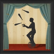 The Artwork Factory Stage Circus Performers Juggler Framed Graphic Art