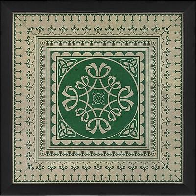 The Artwork Factory Tile 7 Framed Graphic Art; Green
