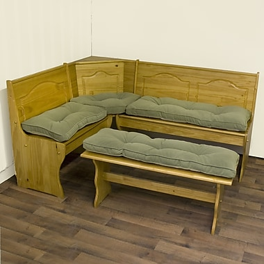 Greendale Home Fashions Hyatt Bench Cushion; Moss (4 Piece)