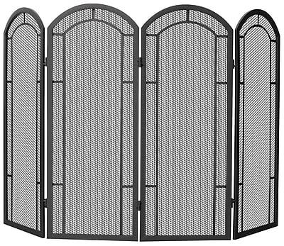 Uniflame 4 Panel Wrought Iron Fireplace Screen