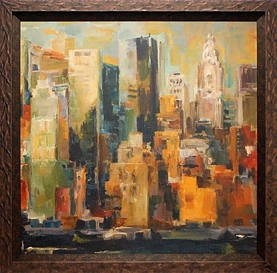 North American Art 'New York New York' by Marilyn Hageman Framed Painting Print