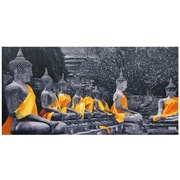 Oriental Furniture Sash Buddhas Photographic Print on Wrapped Canvas