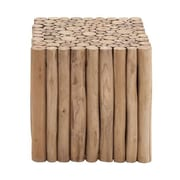 Woodland Imports Square Shaped New Wooden Klaten Stool