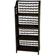 Oriental Furniture 44'' Accent Shelves Bookcase