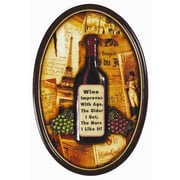 RAM Game Room Wine Improves w/ Age Pub Framed Graphic Art