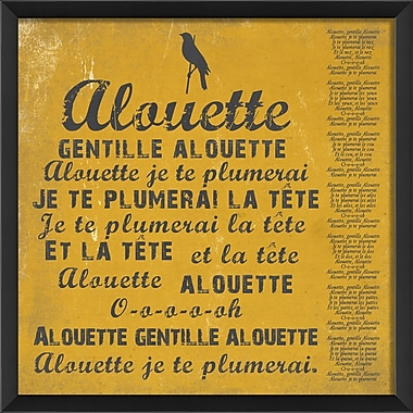The Artwork Factory Alouette Framed Textual Art; Yellow