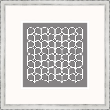 Melissa Van Hise Gray Geometrics lV Framed Graphic Art