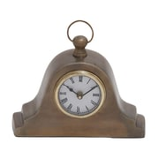 Woodland Imports Tambour Style Table Clock
