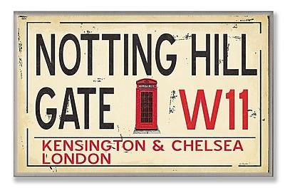 Stupell Industries Notting Hill Gate W11 Railroad Textual Art Wall Plaque