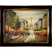 Tori Home Buggy Ride Through Paris Framed Painting Print