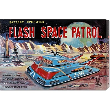 Global Gallery 'Flash Space Patrol' by Retrotrans Vintage Advertisement on Wrapped Canvas