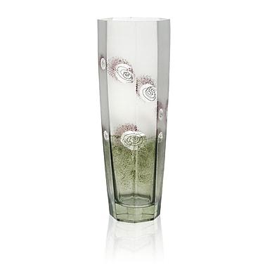 Womar Glass Impressionism Vase; 16'' H x 5.25'' W x 5.25'' D