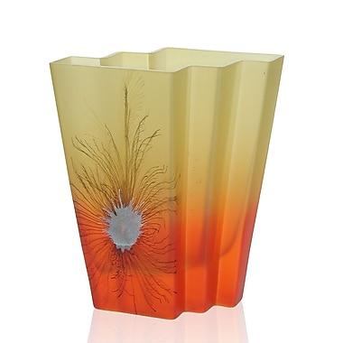 Womar Glass Desert Flower Decorative Vase; 11'' H x 8'' W x 5.25'' D