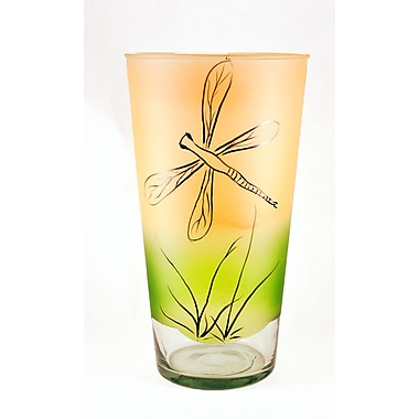 Womar Glass Dragon Fly Vase; 5.6'' H x .6'' W x 5.6'' D