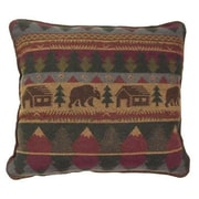 Wooded River Cabin Bear Sham; King