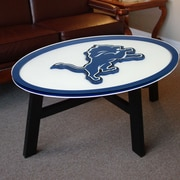 Fan Creations NFL Logo Coffee Table; Detroit Lions