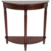 Oriental Furniture Half Round Console Table; Cherry