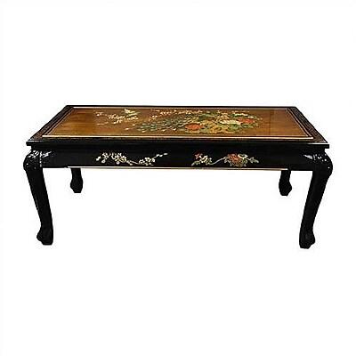 Oriental Furniture Gold Leaf Coffee Table w/ Claw Feet