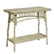 Kenian Coastal Chic Console Table; Antique White