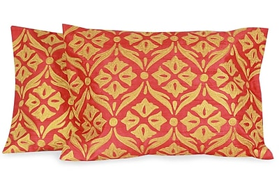 Novica The Seema Embroidered Pillow Cover (Set of 2) WYF078276177488