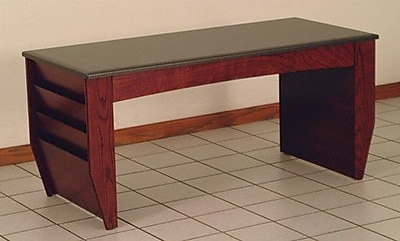 Wooden Mallet Dakota Coffee Table w/ Magazine Pockets; Dark Red Mahogany